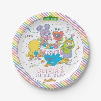 Sesame Street | Baby's First Birthday Paper Plate