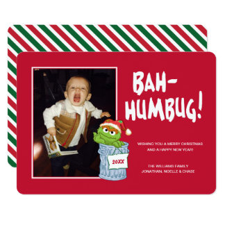 Sesame Street | Bah Humbug Oscar with Photo Card