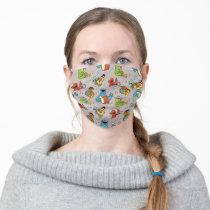 Sesame Street Band Grey Pattern Adult Cloth Face Mask