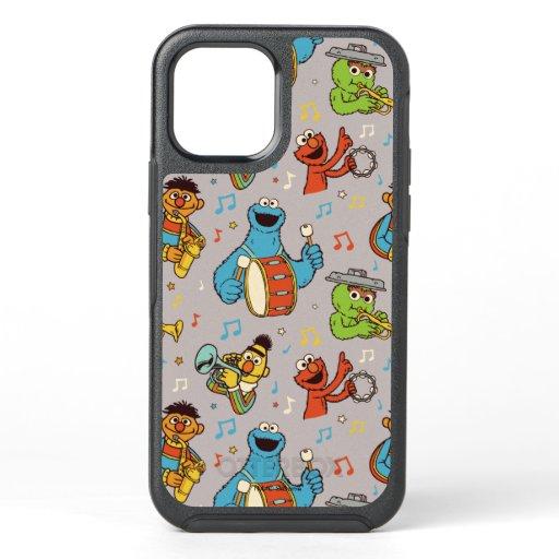 Sesame Street Band Grey Pattern OtterBox Symmetry iPhone 12 Case