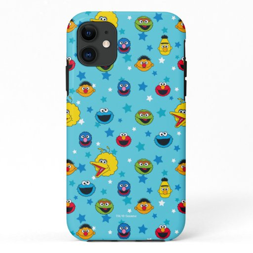 Sesame Street | Best Friends Star Pattern iPhone 11 Case