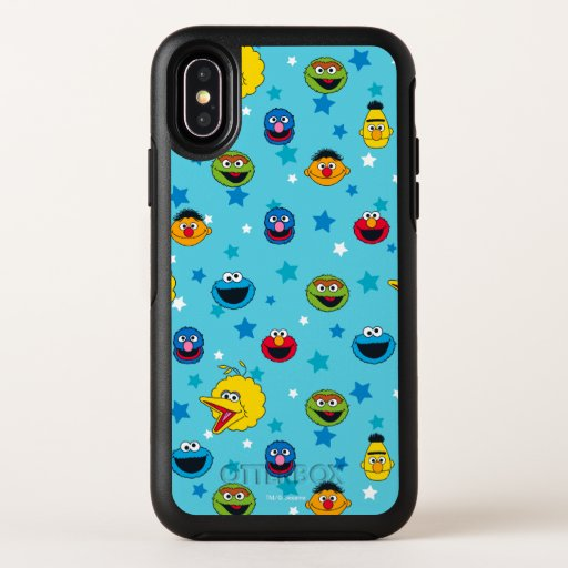 Sesame Street | Best Friends Star Pattern OtterBox Symmetry iPhone X Case