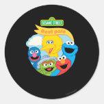 Sesame Street Character Art Classic Round Sticker