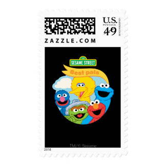 Sesame Street Character Art Postage Stamps