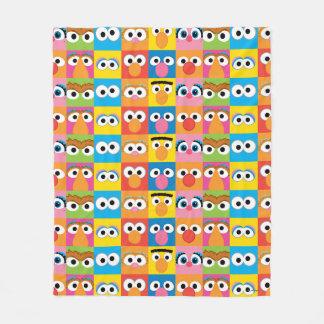 Sesame Street Character Eyes Pattern Fleece Blanket