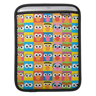 Sesame Street Character Eyes Pattern iPad Sleeve