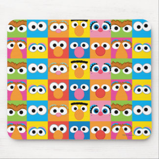 Sesame Street Character Eyes Pattern Mouse Pad