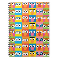 Sesame Street Character Eyes Pattern Notebook