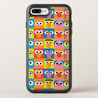 Sesame Street Character Eyes Pattern OtterBox Symmetry iPhone 7 Plus Case
