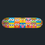 """Sesame Street Character Eyes Pattern Skateboard<br><div class=""""desc"""">Find your favorite Sesame Street character in this fun,  minimalist pattern!</div>"""