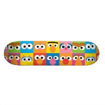Sesame Street Character Eyes Pattern Skateboard