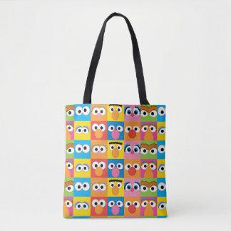 Sesame Street Character Eyes Pattern Tote Bag