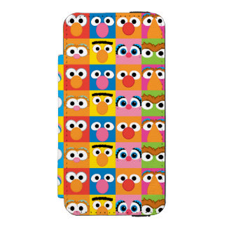 Sesame Street Character Eyes Pattern Wallet Case For iPhone SE/5/5s