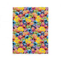 Sesame Street Character Faces Pattern Fleece Blanket