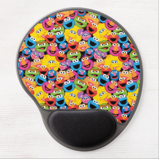 Sesame Street Character Faces Pattern Gel Mouse Pad
