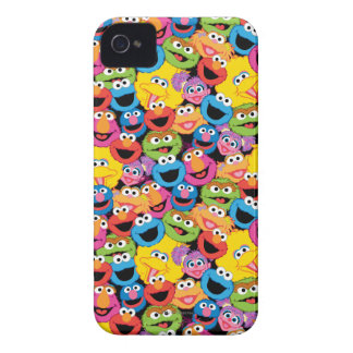 Sesame Street Character Faces Pattern iPhone 4 Case