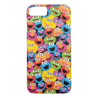 Sesame Street Character Faces Pattern iPhone 8/7 Case
