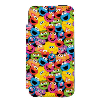 Sesame Street Character Faces Pattern iPhone SE/5/5s Wallet Case