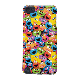 Sesame Street Character Faces Pattern iPod Touch (5th Generation) Cover