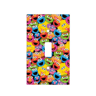 Sesame Street Character Faces Pattern Light Switch Cover