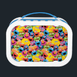 """Sesame Street Character Faces Pattern Lunch Box<br><div class=""""desc"""">Check out this cool pattern of all your favorite Sesame Street characters!       This item is recommended for ages 2 . &#169;  2014 Sesame Workshop. www.sesamestreet.org</div>"""