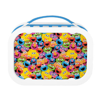 Sesame Street Character Faces Pattern Lunch Box at Zazzle
