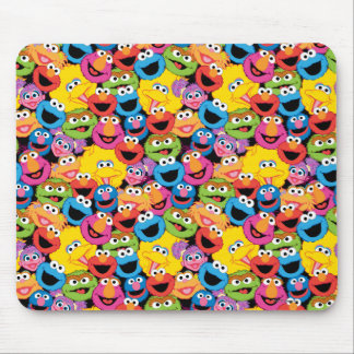 Sesame Street Character Faces Pattern Mouse Pad