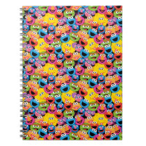 Sesame Street Character Faces Pattern Notebook