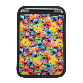 Sesame Street Character Faces Pattern Sleeve For iPad Mini
