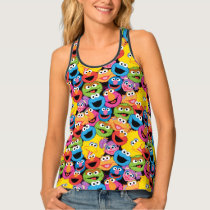 Sesame Street Character Faces Pattern Tank Top