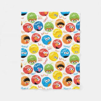 Sesame Street Circle Character Pattern Fleece Blanket