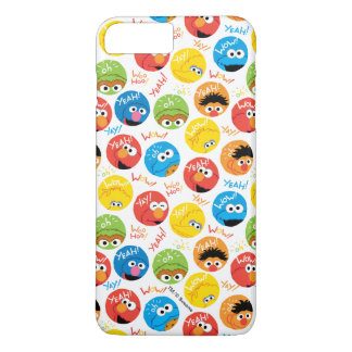 Sesame Street Circle Character Pattern iPhone 8 Plus/7 Plus Case