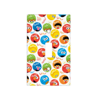 Sesame Street Circle Character Pattern Light Switch Cover