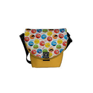 Sesame Street Circle Character Pattern Courier Bag