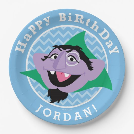 Sesame Street Count Von Count Birthday Paper Plate