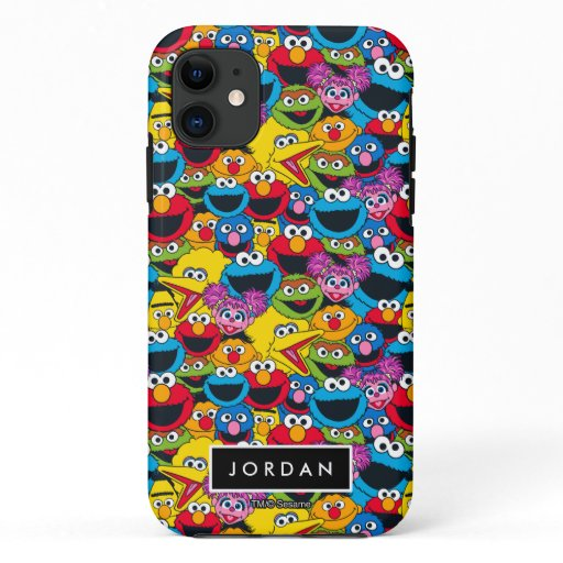 Sesame Street Crew Pattern | Add Your Name iPhone 11 Case