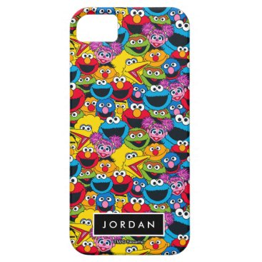 Sesame Street Crew Pattern | Add Your Name iPhone SE/5/5s Case
