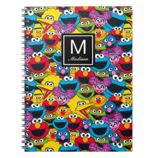 Sesame Street Crew Pattern | Add Your Name Notebook