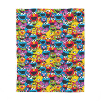 Sesame Street Crew Pattern Fleece Blanket