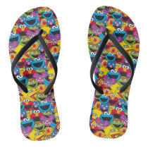 Sesame Street Crew Pattern Flip Flops
