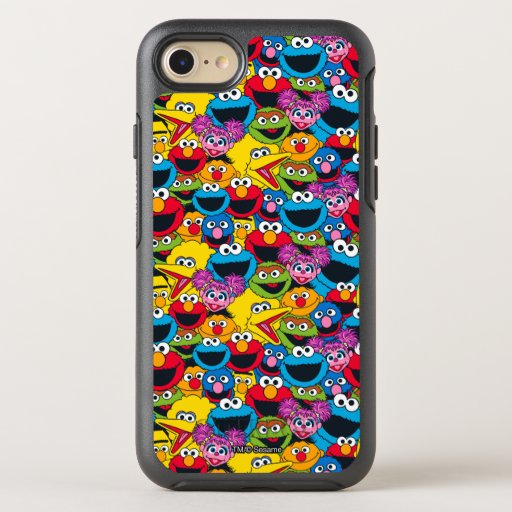 Sesame Street Crew Pattern OtterBox Symmetry iPhone SE/8/7 Case