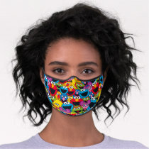 Sesame Street Crew Pattern Premium Face Mask