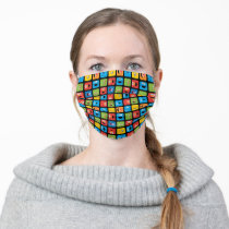 Sesame Street Cubed Faces Pattern Adult Cloth Face Mask