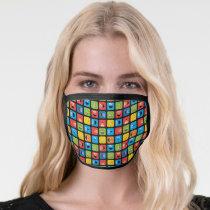 Sesame Street Cubed Faces Pattern Face Mask