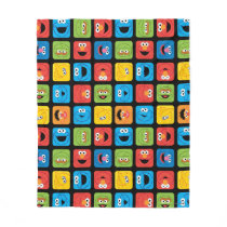 Sesame Street Cubed Faces Pattern Fleece Blanket