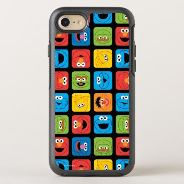 Sesame Street Cubed Faces Pattern OtterBox Symmetry iPhone 8/7 Case