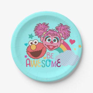 Sesame Street   Elmo & Abby - Be Awesome Paper Plate