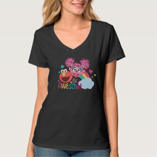 Sesame Street  Elmo  Abby _ Be Awesome T_Shirt