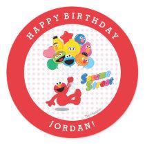 Sesame Street | Elmo and Pals - Birthday Balloons Classic Round Sticker