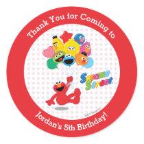 Sesame Street   Elmo and Pals - Birthday Balloons Classic Round Sticker